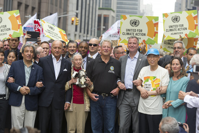 UN Secretary General Ban Ki-moon joins the People's Climate March.Credit:UN Photo/Mark Garten