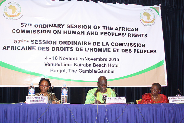 The African Commission on Human and Peoples' Rights at its November 2015 sessionCredit: ACHPR