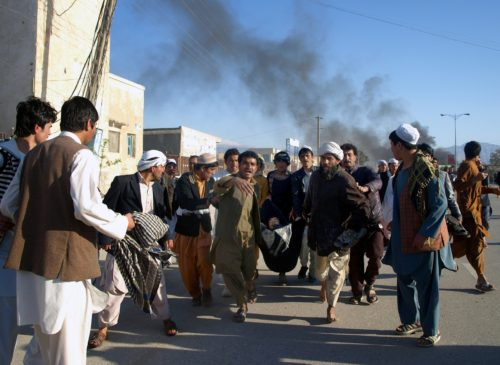 Attack on UN compound in Mazar i Sharif, Afghanistan, following protests.