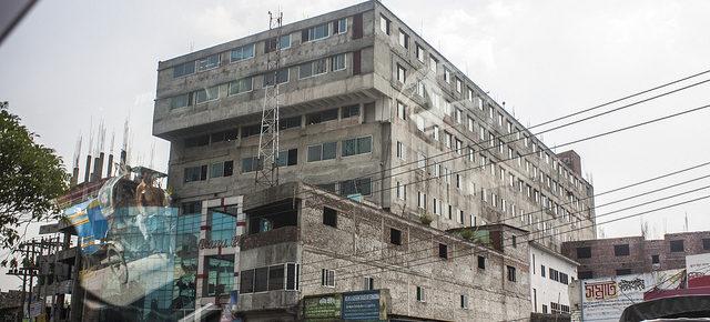 Rana Plaza before the collapseCredit: Sean Robertson
