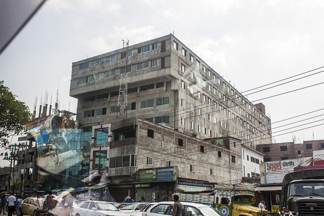 Rana Plaza before the collapseCredit: Sean Robertson