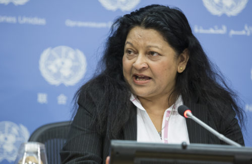Press briefing by the UN Special Rapporteur on the situation of human rights in the State of Eritrea, Ms. Sheila B. Keetharuth