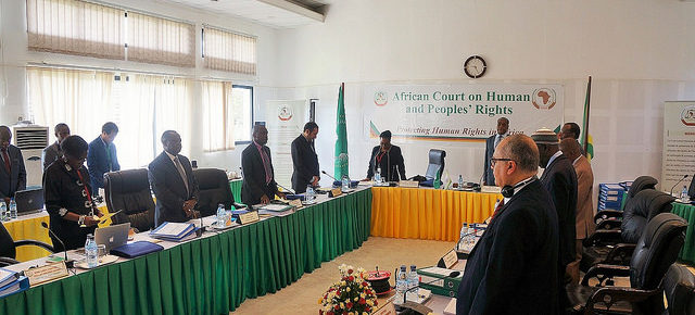 The African Court on Human and Peoples' Rights in session in May 2016Credit: AfCHPR